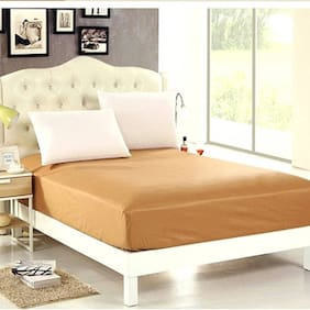AVI Waterproof Twin Size Bed Fitted Mattress Protector For Complete Protection Of Your Mattress- Beige (121.92 cm (48 Inch) x 182.88 cm (72 Inch))6 x 4 Foot/Feet)