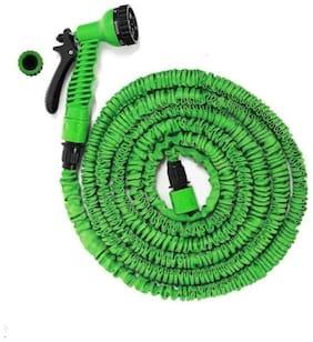 AviListo 15M Water Spray Jet Gun Hose Pipe for Garden/Car/Bike/Pet Wash (Multicolour)