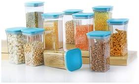 Avsar 1100 ml Blue Plastic Container Set - Set of 10