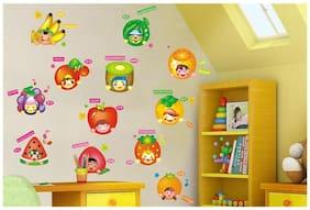 AY1003 fruits Fruits with cartoon Wall Sticker JAAMSO ROYALS