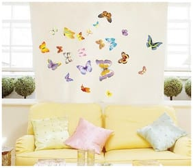 AY1043B multicolour butterfly Wall Sticker JAAMSO ROYALS