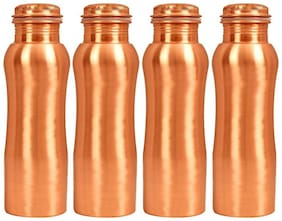 AYURPATRA 950 ml Copper Copper Water Bottles - Set of 4