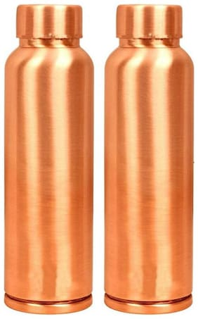 AYURPATRA 950 ml Copper Copper Water Bottles - Set of 2