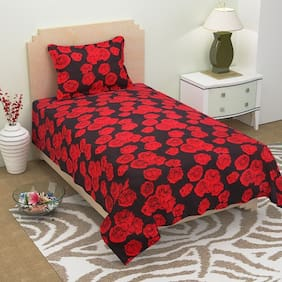 Azaani Grace Cotton Single Bedsheet With 1 Pillow Cover