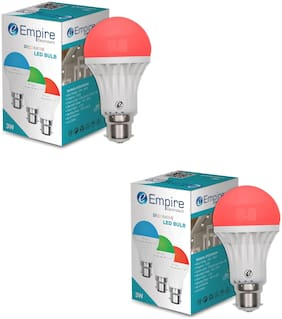 B22 3w red color led bulb - pack of 2