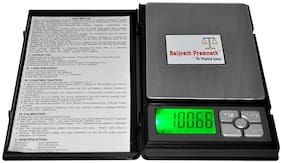 Baijnath Premnath Digital Notebook 500gm x 10mg (0.01g) Gold and Silver Jewellery Weighing Scale {for research}