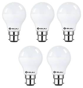 Bajaj 7 W Standard B22 LED Bulb (White;Pack of 5)