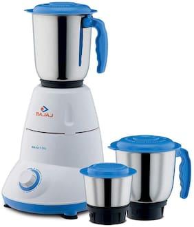 Bajaj BRAVO DLX 500 W Mixer Grinder ( White & Blue , 3 Jars )