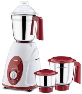 Bajaj Classic 750 W Mixer Grinder (White & Red/3 Jars)