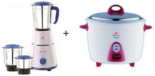 Bajaj Combo of PLUTO 500 w Mixer grinder & RCX3 1.5L Electric Rice cooker