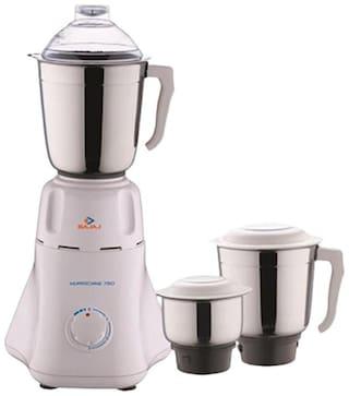 Bajaj EASY 500 W Mixer Grinder ( White , 3 Jars )