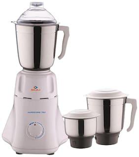 Bajaj Easy 500 W Mixer Grinder (White/3 Jar)