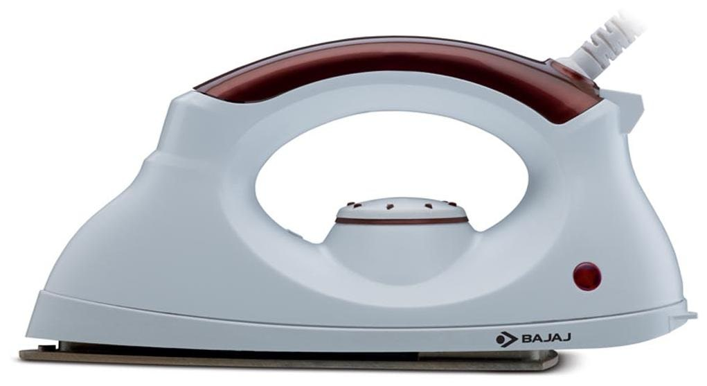 Bajaj Esteela 1000 W Dry Iron (White & Brown)