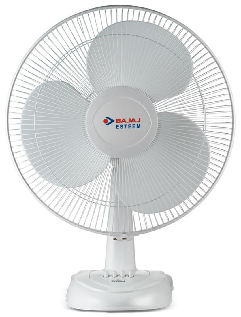 Bajaj Esteem 3 Blades (400 mm) Table Fan (White)
