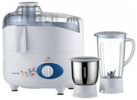 Bajaj Fresh Sip 450 W Juicer Mixer Grinder (White/2 Jar)