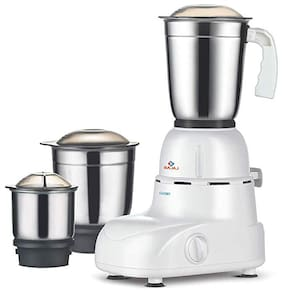 Bajaj GLORY 500 W Mixer Grinder ( White & Brown , 3 Jars )