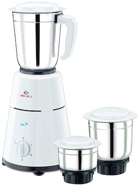 Bajaj GX 1 500 W Juicer Mixer Grinder ( White , 3 Jars )
