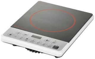 Bajaj ICX PEARL 1900 W Induction Cooktop ( Black & White , Push Button Control)