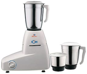 Bajaj ION 500 W Mixer Grinder ( White & Blue , 3 Jars )