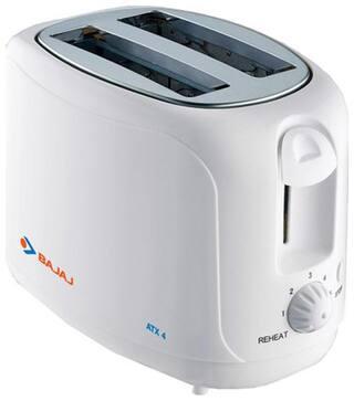 Bajaj MAJESTY ATX 4 2 Slices Pop-Up Toaster - White
