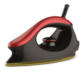 Bajaj Majesty 1000 W One Dry Iron (Black;Red)