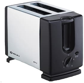 Bajaj ATX 3 2 Slices Pop-Up Toaster - Silver & Black