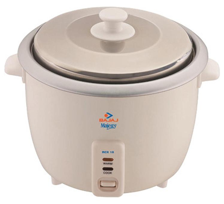 Bajaj Majesty RCX 18 1.8 L Rice Cooker (Cream)