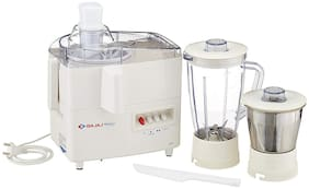 Bajaj MAJESTY JX 4 450W Juicer Mixer Grinder ( White , 2 Jars )
