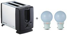 Bajaj MAJESTY ATX 3 2 Slices Pop-up Toaster ( Silver )