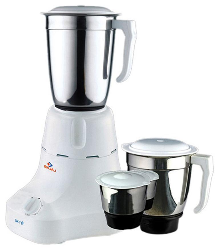 Bajaj Majesty GX-7 500 W Mixer Grinder (White/3 Jar)