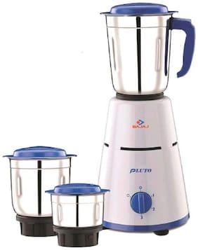 Bajaj PLUTO 500 W Mixer Grinder ( White & Blue , 3 Jars )