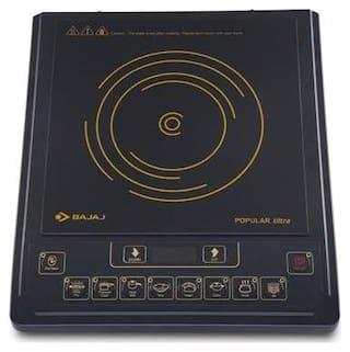 Bajaj POPULAR ULTRA1400W 1400 W Induction Cooktop ( Black , Push Button Control)
