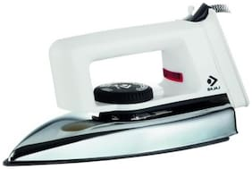 Bajaj Popular Plus 750 W Dry Iron (White)