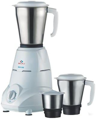 Bajaj REX 500 W Mixer Grinder ( White , 3 Jars )