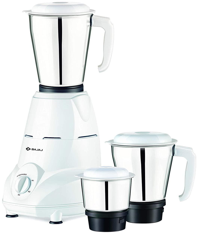 Bajaj REX MG 500 W Mixer Grinder (White/3 Jar)