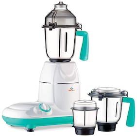 Bajaj SWISH 750 W Mixer Grinder ( White & Teal , 3 Jars )