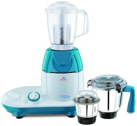 Bajaj TWISTER FRUITY 750W Mixer Grinder ( White & Blue , 3 Jars )