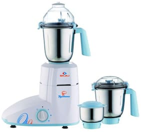 Bajaj TYPHOON 750 W Juicer Mixer Grinder ( White & Blue , 3 Jars )