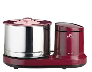 Bajaj WX-3 150 W Wet Grinder (Red)