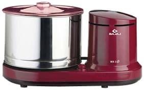 Bajaj WX3 150 W Wet Grinder ( Red , 3 Jars )