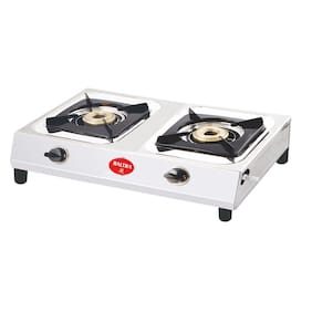 Baltra BRIGHT 2 Burner Regular Silver Gas Stove , ISI Certified