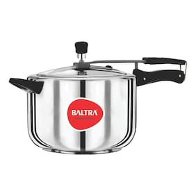 Baltra Stainless Steel 5 L Inner Lid Pressure Cooker - Set of 1 , ISI Certified