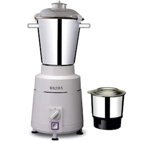 Baltra HIGH SPEED 1100 W Mixer Grinder ( White , 2 Jars )
