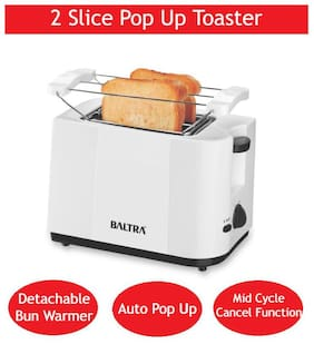 Baltra NEO+ BTT-216 2 Slices Pop-Up Toaster - White