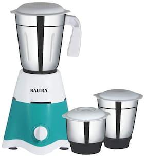 Baltra PROMO 550 W Mixer Grinder ( White & Turquoise , 3 Jars )
