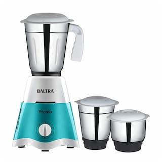 Baltra Promo (550 Watt) Mixer Grinder with 3 Jars (Turquoise Green & White)