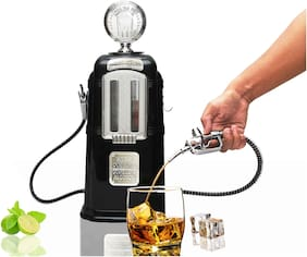 Barraid Double Gas Pump Liquor Dispenser Black Chrome Plated 1500 ML Capacity
