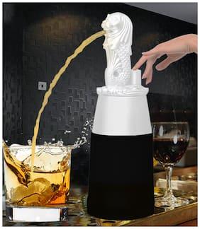 Barraid Singapore Lion Liquor Dispenser Round Shape 500 ml Capacity (White)