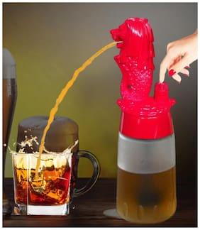 Barraid Singapore Lion Liquor Dispenser Round Shape 500 ml Capacity (Red)