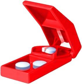 Basic Tablet Cutter/Pill Cutter Red